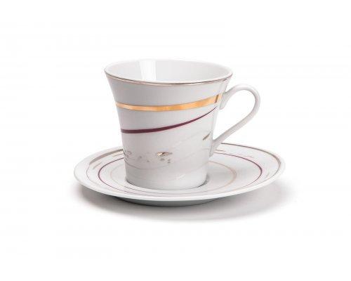 Tunisie Porcelaine Asymetrique Traces 1669 набор чайных пар на 6 персон