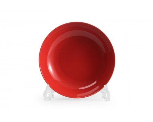 Тарелка глубокая 23см Tunisie Porcelaine Putoisage rouge 3067