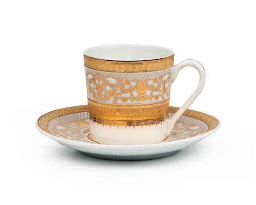 Tunisie Porcelaine Mimosa Didon Or 1645 набор кофейных пар на 6 персон