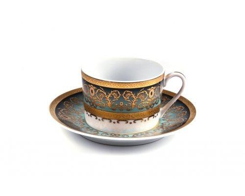 Tunisie Porcelaine Mimosa Prague Degrade 1643 набор чайных пар на 6 персон