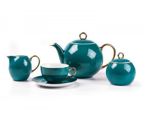 Tunisie Porcelaine Monalisa Rainbow Or 3123 чайный сервиз на 6 персон 15 предметов