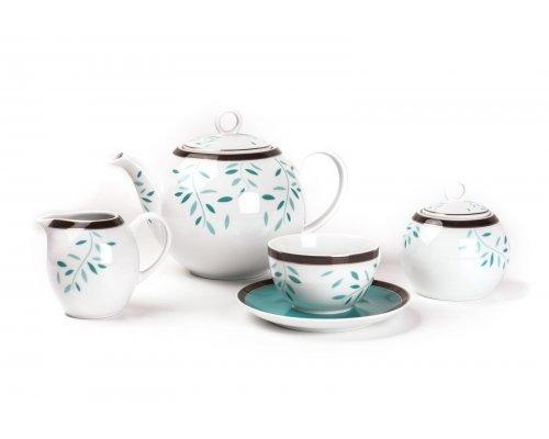 Tunisie Porcelaine Monalisa Laurette 807 чайный сервиз на 6 персон 15 предметов