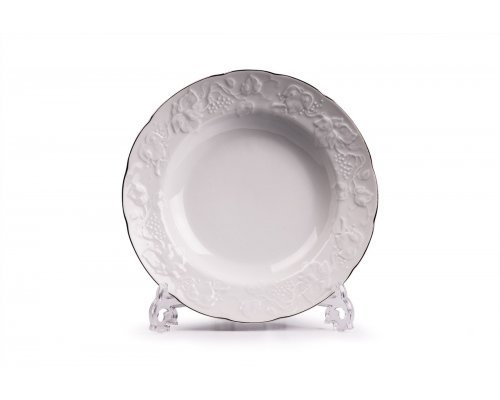 Tunisie Porcelaine Vendange Filet Platine Тарелка глубокая 22 см