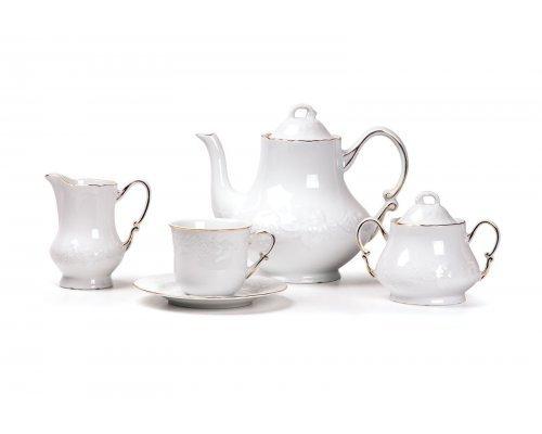 Tunisie Porcelaine Vendange Filet Or Сервиз чайный 15 предметов на 6 персон