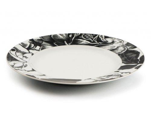 Тарелка десертная 22 см. Черный базилик