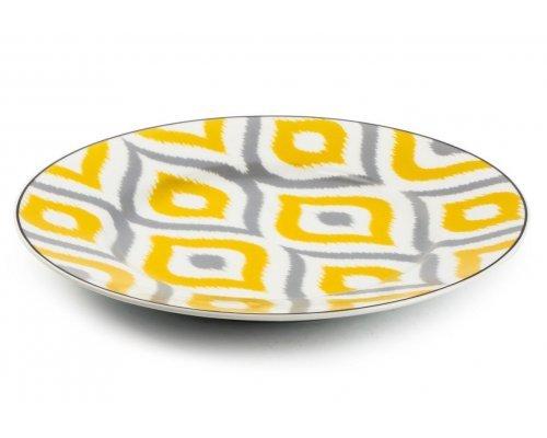 Тарелка десертная 22 см. Огненный павлин