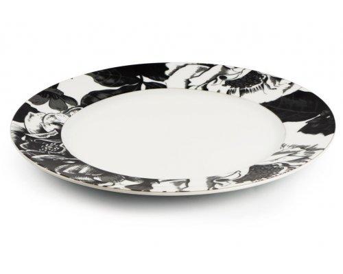 Тарелка плоская 27 см. Черный базилик