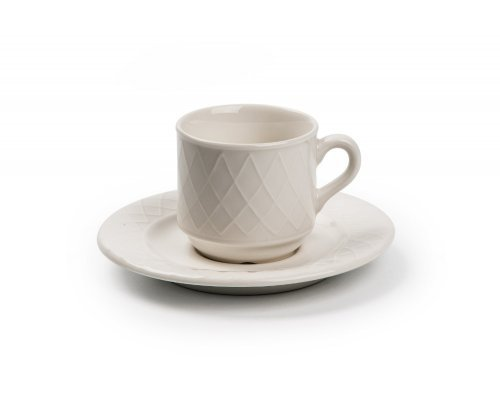 Tunisie Porcelaine Grand siegle Кофейная пара 90мл, Д 6,2хН6см