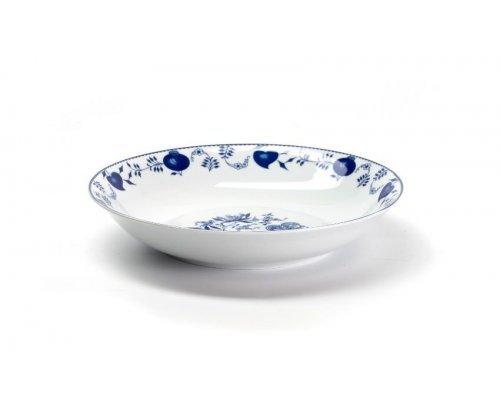 Блюдо глубокое круглое 29х5,4см Tunisie Porcelaine Синий Лук 1313