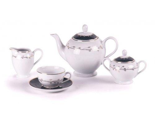 Tunisie Porcelaine Isis Toison Or 1699 Сервиз чайный на 6 персон 15 предметов