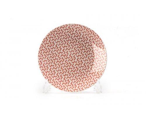 Тарелка 21 см Tunisie Porcelaine Розовый Лабиринт