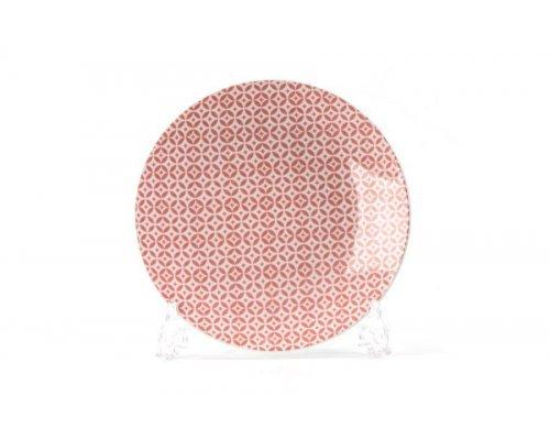 Тарелка 21 см Tunisie Porcelaine Розовый Витон