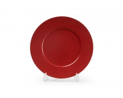 Тарелка десертная 23см Tunisie Porcelaine Putoisage rouge 3067