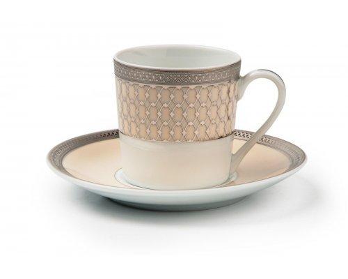 Tunisie Porcelaine Tanit Victoir Platine 1489 набор кофейных пар на 6 персон