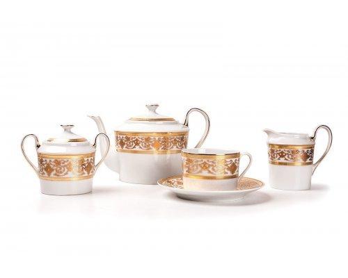 Tunisie Porcelaine Mimosa Ramses Or 632 чайный сервиз на 6 персон 15 предметов