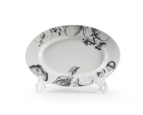 Блюдо овальное маленькое, 23,5х16см Tunisie Porcelaine Black apple 2241