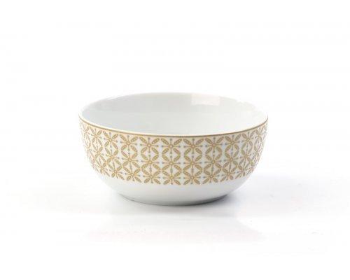 Салатник 13 см Tunisie Porcelaine Золотой Ажур