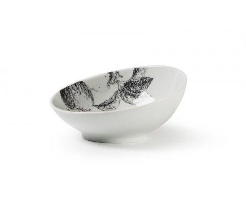 Салатник скошенный край, V-170мг, Д12,8смхН5,5см Tunisie Porcelaine Black apple 2241
