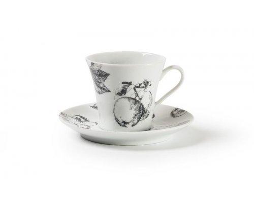 Чайная пара 210 мл Tunisie Porcelaine Black apple 2241