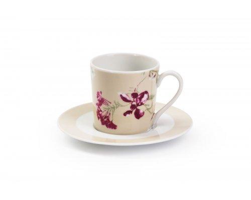 Набор кофейных пар Mimosa Liberty 2150 Tunisie Porcelaine 120 мл на 6 персон 12 предметов