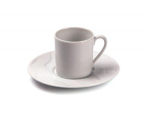 Tunisie Porcelaine Vagues Кофейная пара 120мг, Д 12 см