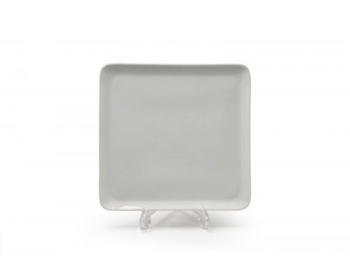 Тарелка квадратная 24,5см х 25,5см Tunisie Porcelaine Yaka