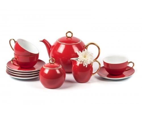 Tunisie Porcelaine Monalisa Rainbow Or 3125 чайный сервиз на 6 персон 15 предметов