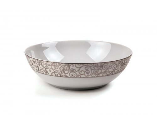 Tunisie Porcelaine Isis Orient Platine 1672 Cалатник, Д 25х7.6см