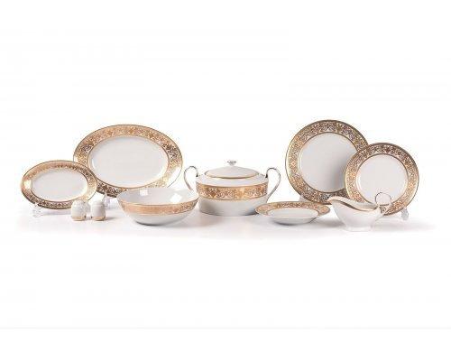 Tunisie Porcelaine Mimosa Ramses Or 632 столовый сервиз на 6 персон 25 предметов