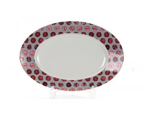Блюдо овальное 35 см Tunisie Porcelaine Isis Малина 2255