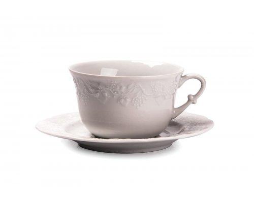 Tunisie Porcelaine Vendange Чашка для завтрака с блюдцем 340мл, 11,6х6,8см