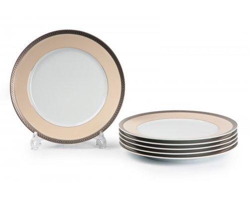 Tunisie Porcelaine Tanit Victoir Platine 1489 набор тарелок 27 см. на 6 персон