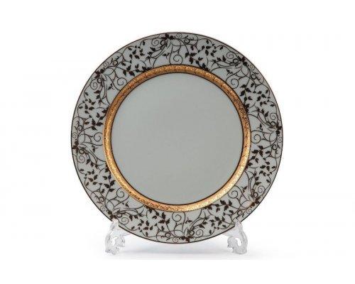 Tunisie Porcelaine Mimosa Lierre Or 947 набор тарелок 27 см. на 6 персон