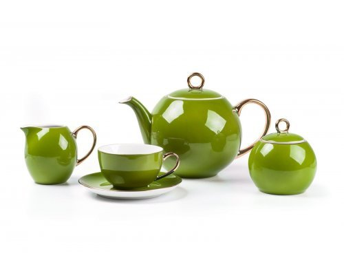 Tunisie Porcelaine Monalisa Rainbow Or 3128 чайный сервиз на 6 персон 15 предметов
