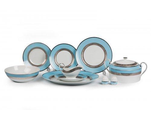 Tunisie Porcelaine Mimosa Monaco Bleu Turquoise 1626 столовый сервиз на 6 персон 25 предметов