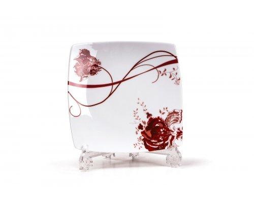 Tunisie Porcelaine Kyoto Noblesse Roug 0753 набор тарелок 26см., на 6 персон