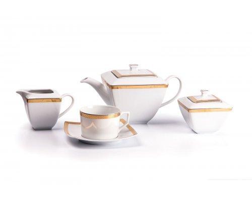 Tunisie Porcelaine Kyoto Saint Germain Or 1555 чайный сервиз на 6 персон 15 предметов золото