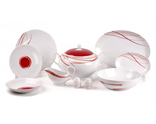 Tunisie Porcelaine Monalisa Spirales 540 столовый сервиз на 6 персон 25 предметов
