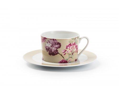 Набор чайных пар 220 мл. на 6 персон 12 предметов Tunisie Porcelaine Mimosa Liberty 2150