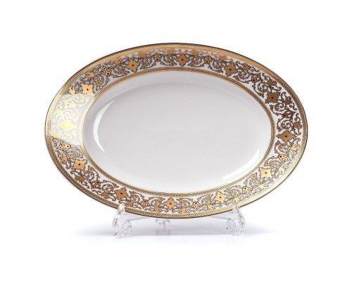 Tunisie Porcelaine Mimosa Ramses Or 632 блюдо, Д 35х23.9см