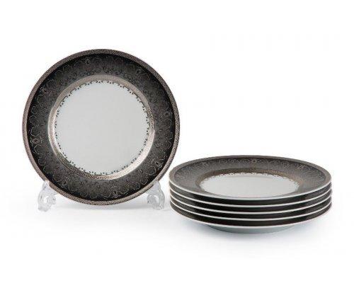 Tunisie Porcelaine Mimosa Prague Gris 1743 набор тарелок 22 см. на 6 персон