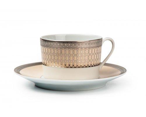 Tunisie Porcelaine Tanit Victoir Platine 1489 набор чайных пар на 6 персон