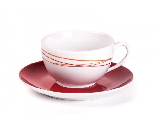 Tunisie Porcelaine Monalisa Spirales 540 набор чайных пар 210 мл на 6 персон