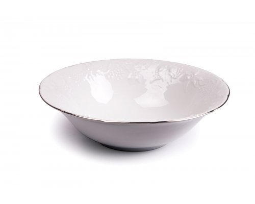 Tunisie Porcelaine Vendange Filet Platine Салатник, Д 25 см