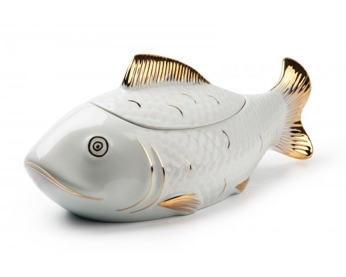 Супница Рыба Tunisie Porcelaine 2,8 л. золото