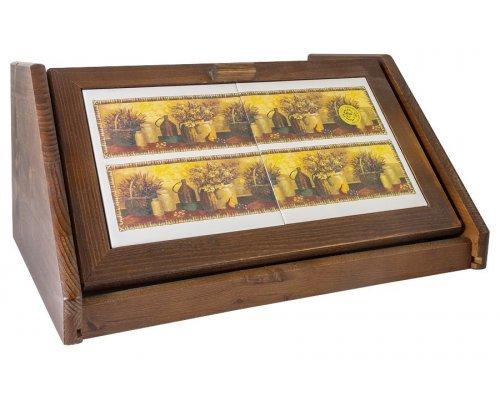 Деревянная хлебница с керамическими вставками LCS Натюрморт