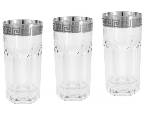 6 стаканов для воды Версаче серебро Same