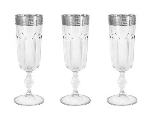 6 бокалов для шампанского Версаче серебро Same