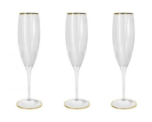 6 бокалов для шампанского Пиза золото Same