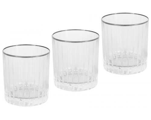 6 бокалов для виски Пиза серебро Same